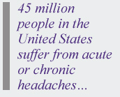 45 million people in the USA have headaches