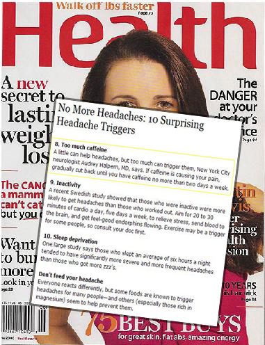 Dr. Audrey Halpern in Health Magazine
