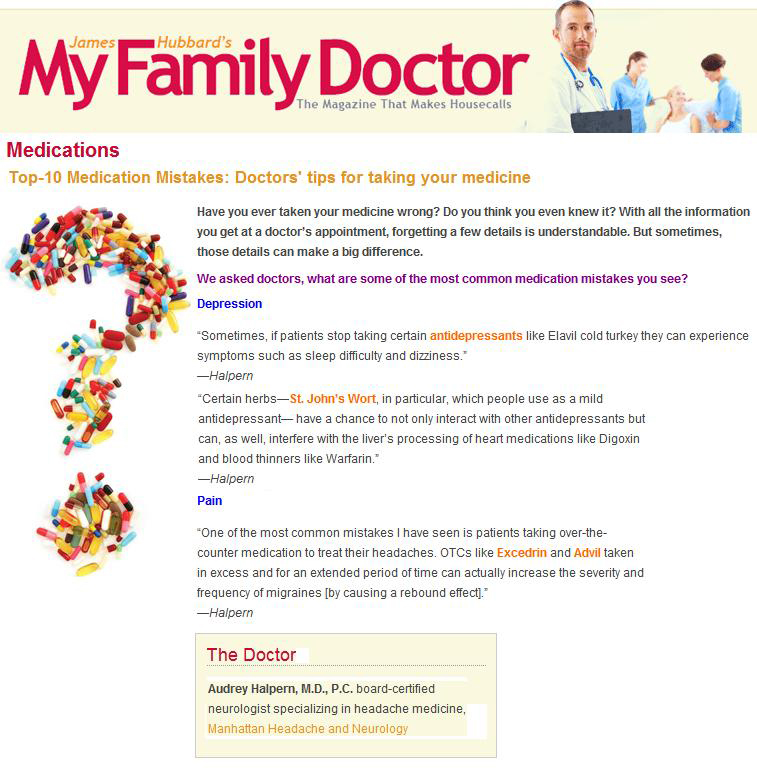 info on Medications from My Family Doctor