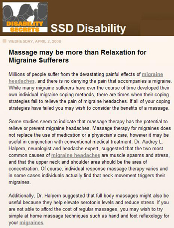 disability from headaches