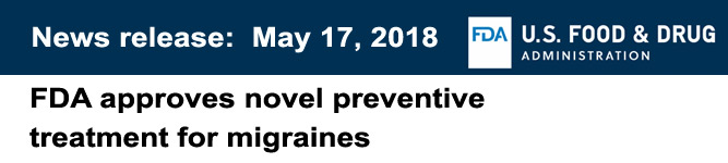 preventive treatment for migraines